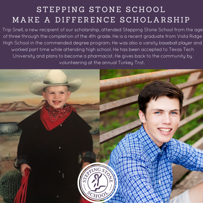 Stepping Stone School Make a Difference Scholarship Recipient