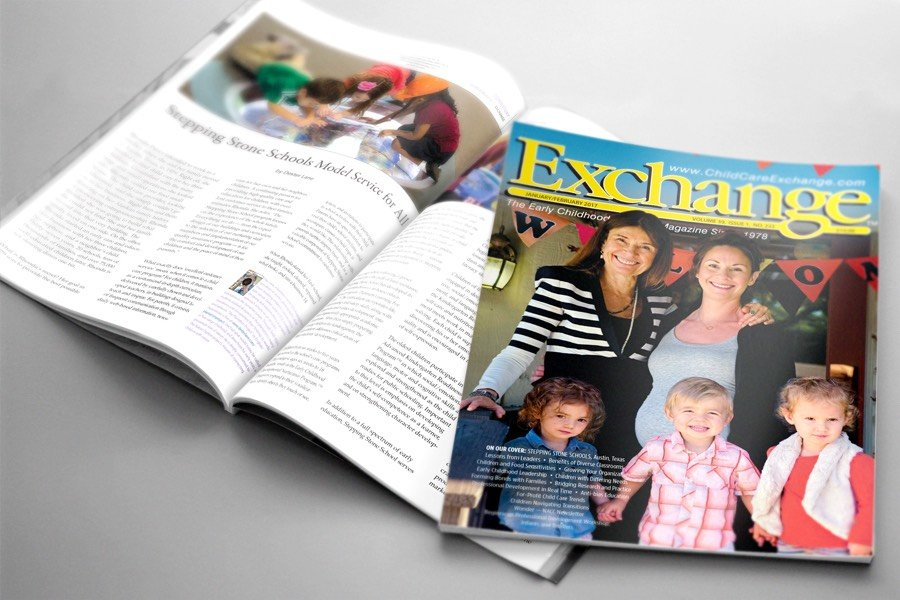 Stepping Stone School on cover of ChildCare Exchange magazine