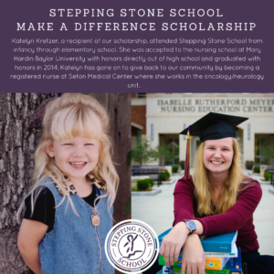 stepping stone school Make a Difference